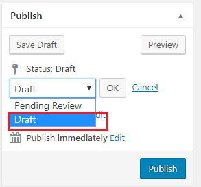 Wordpress drafts
