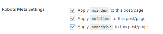 meta settings for noindex