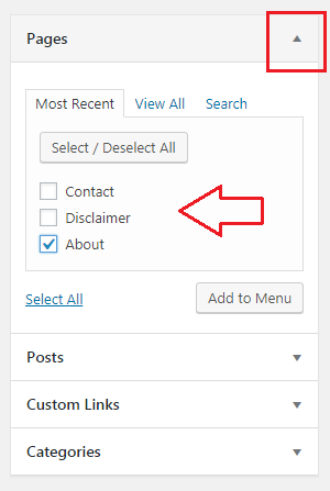 Add links to WP menu