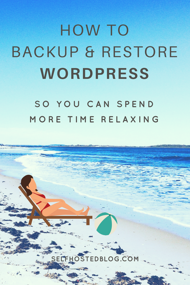 Are you backing up your self hosted WordPress site? Here's three simple ways to backup your WordPress site and restore it in case it breaks. Check it out.