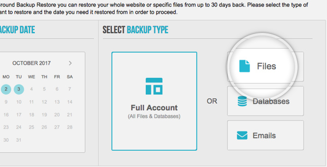 SiteGround includes backup and restore tool with GrowBig and GoGeek
