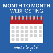 Get monthly webhosting for wordpress