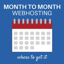 Get monthly webhosting for wordpress
