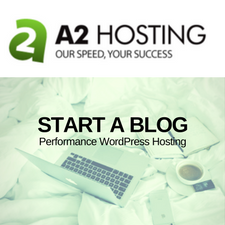 start a blog with a2 hosting