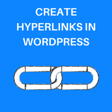 add hyperlinks in WordPress